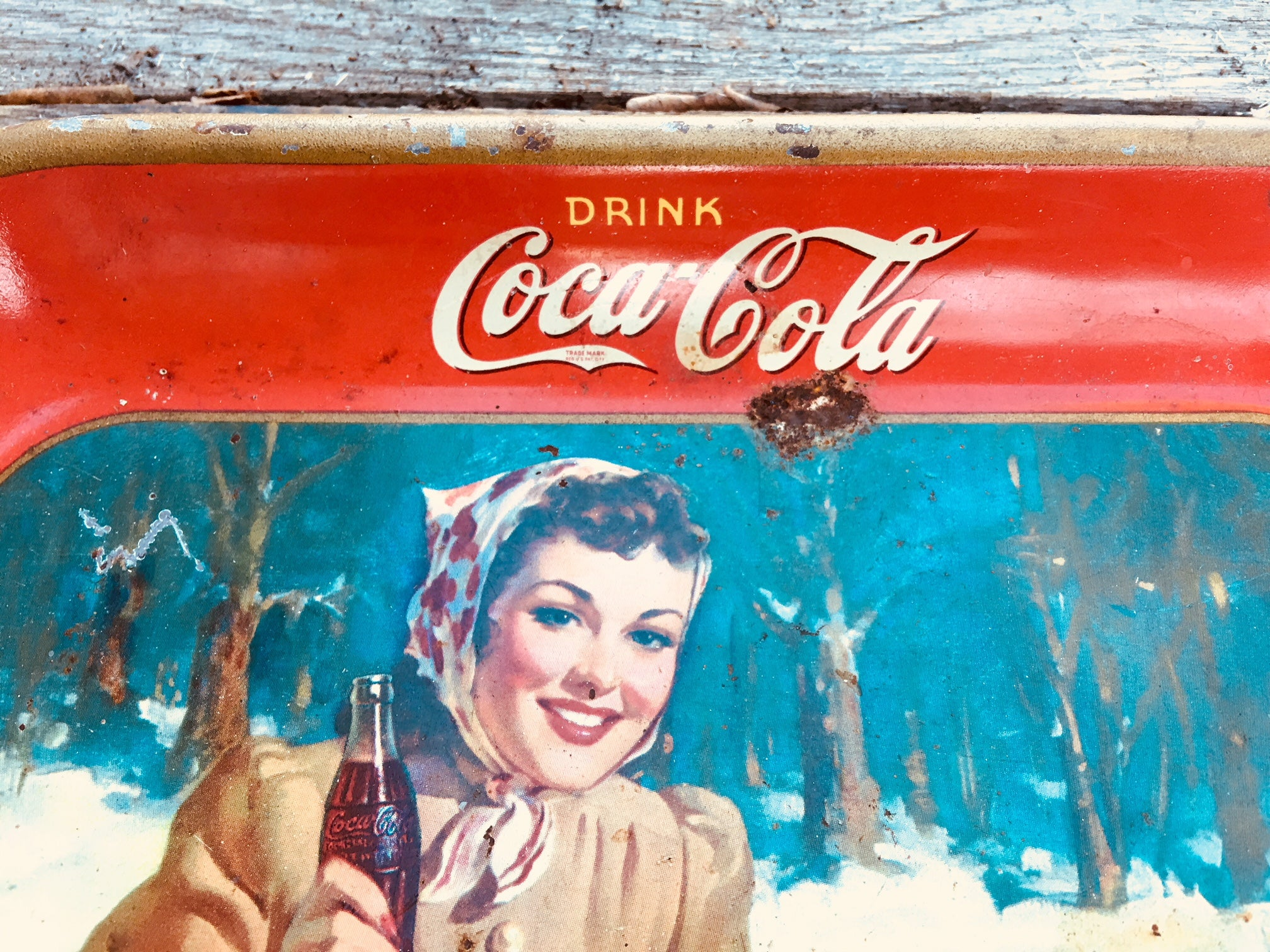 Original 1940's Coca Cola Serving Tray