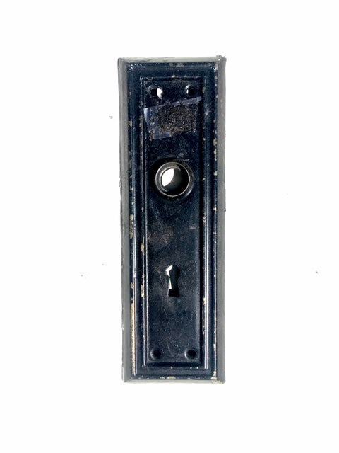 Art Deco Black Door Face Plate