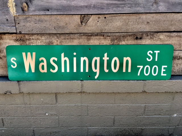 Vintage Washington Street Sign from Denver Colorado