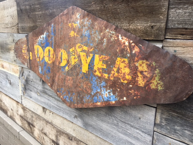 Vintage Goodyear Sign Metal Double Sided