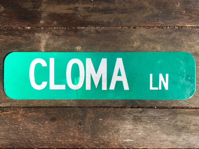 Vintage Cloma Lane Double Sided Metal Street Sign