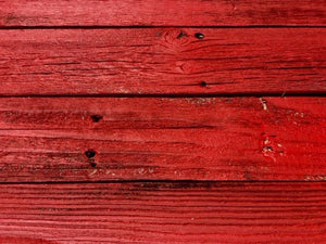 Accent Wall Cover Reclaimed Wood Bright Red FREE SHIPPING