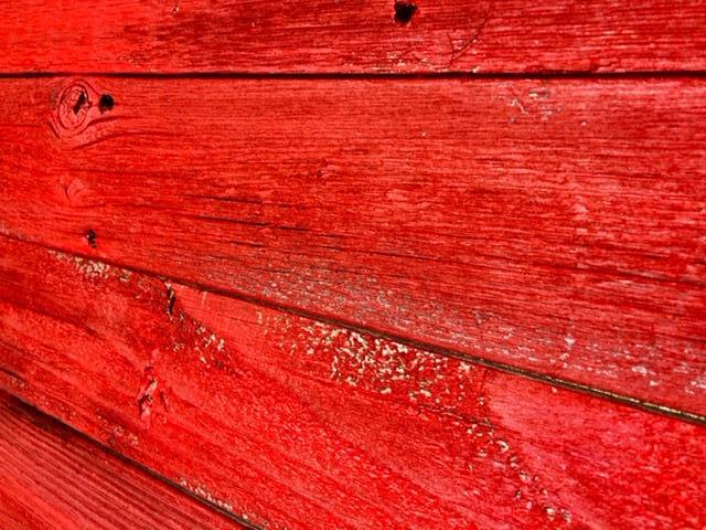 Accent Wall Cover Reclaimed Wood Rustic Bright Red PICK UP ONLY