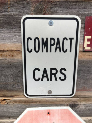 "Compact Cars Metal Sign 12"" x 18"" $25"