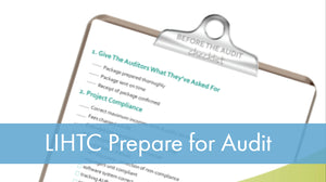 LIHTC Series: 03 Prepare for Audit