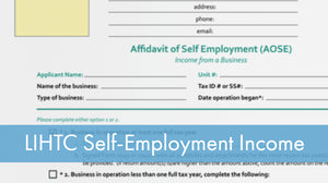 LIHTC Series: 08 Self-Employment Income