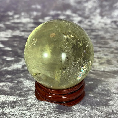 Citrine Sphere - Crystal Inclusions