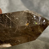 Golden Rutile Smokey Quartz Point 120g Crystal Inclusions.