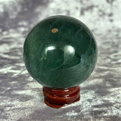 Fluorite Sphere 145gd Crystal Inclusions.