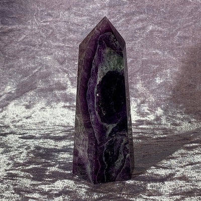 Purple Fluorite Tower 175g Crystal Inclusions.