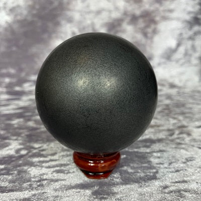 Shungite Sphere 270g Crystal Inclusions.