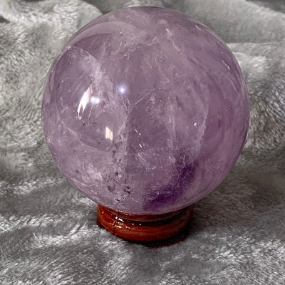 Amethyst Sphere 320g Crystal Inclusions.