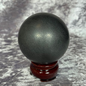 Shungite Sphere 335g Crystal Inclusions.