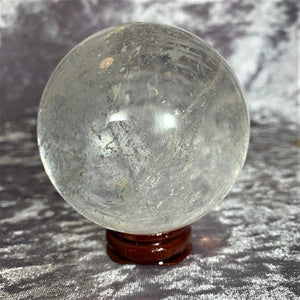 Clear Quartz Sphere 386g Crystal Inclusions.