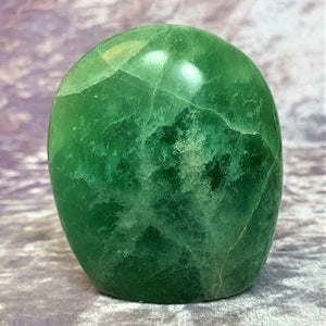 Green Fluorite Free Form 415g Crystal Inclusions.