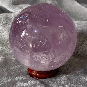 Amethyst Sphere 425g Crystal Inclusions.