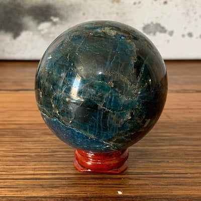 Apatite Sphere 455g Crystal Inclusions.