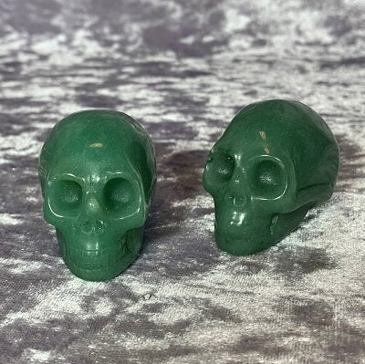 Green Aventurine Skulls 45mm