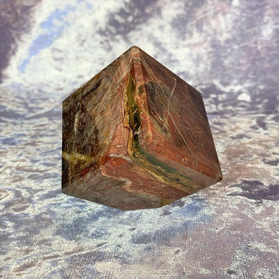 Cherry Creek Jasper Cube 570g Crystal Inclusions.