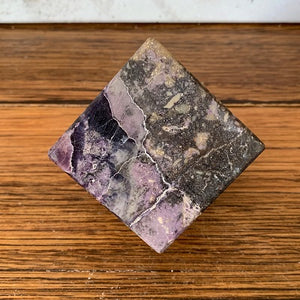 Silky Fluorite Cube 640g Crystal Inclusions.
