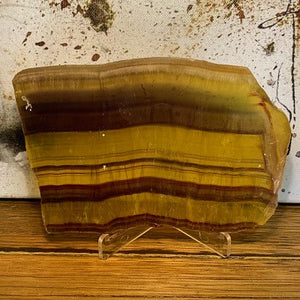 Yellow Fluorite Slab - Crystal Inclusions