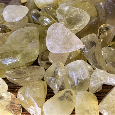 Citrine Tumbled Stones Crystal Inclusions.