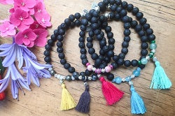 Lava-Links Boho Tassel Bracelets available in a range of colors