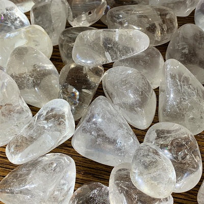 Clear Quartz Crystal Tumbled Stones - Large Crystal Inclusions.