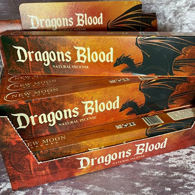 New Moon Dragons Blood Natural Incense - Crystal Inclusions