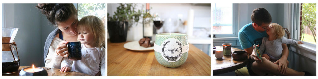 Hyggelight the growing candle, soy candle with seed paper label