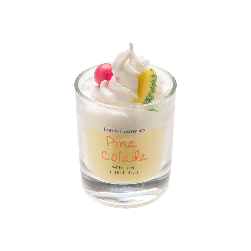 Pina Colada  Piped Glass Candle