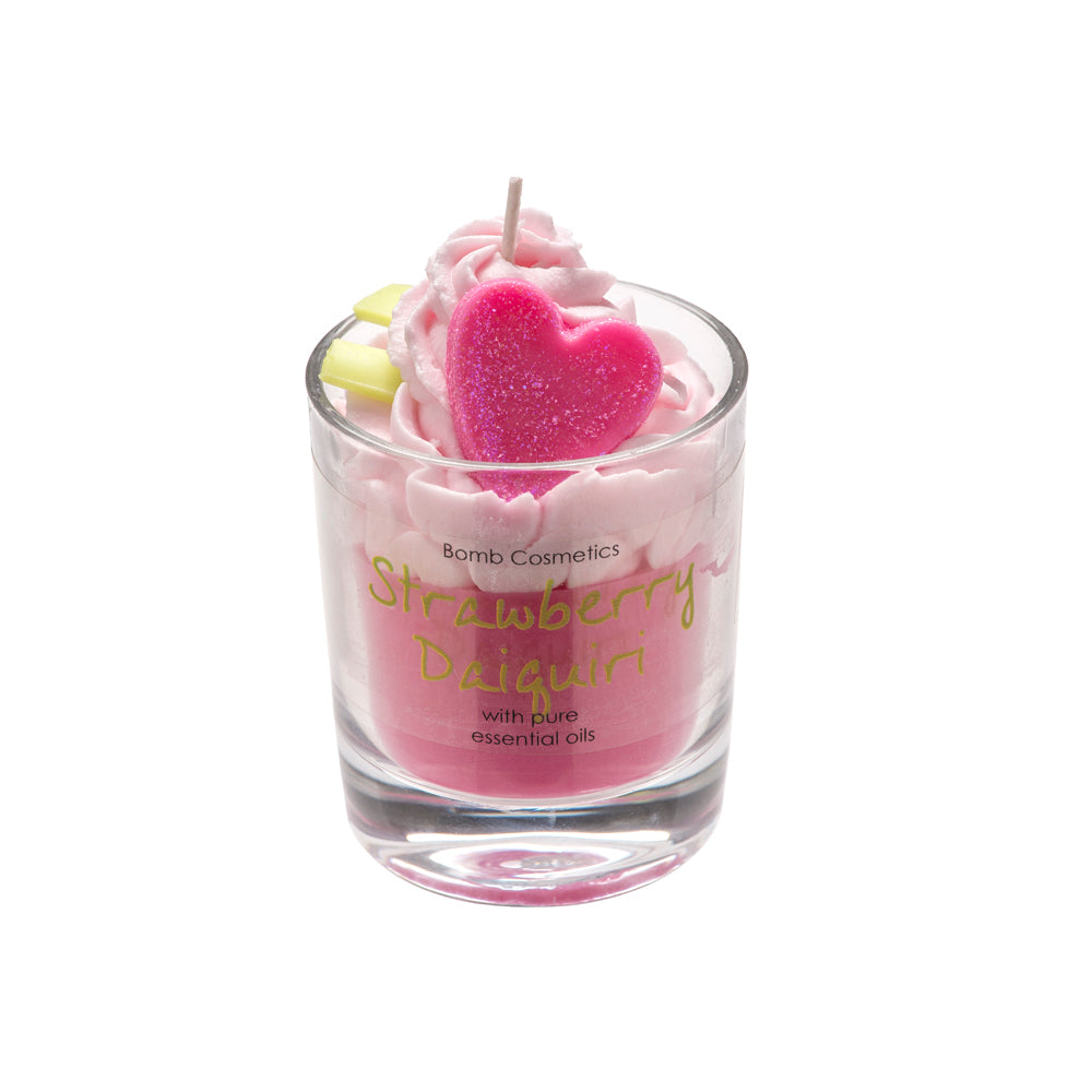 Strawberry Daiquiri  Piped Glass Candle