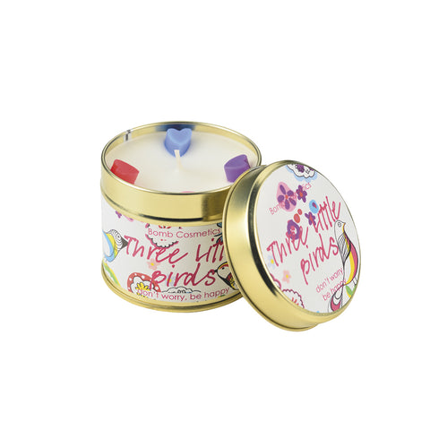 Three Lil Birds Tin Candle
