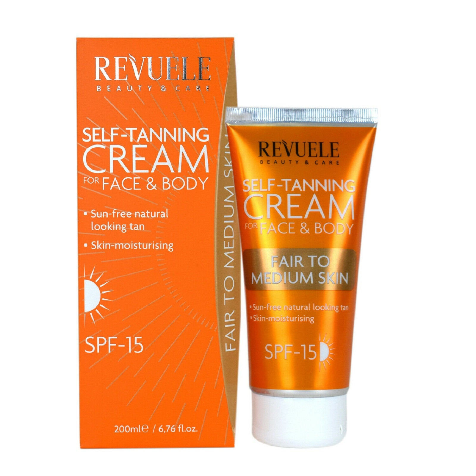 Revuele Self-Tanning Cream Fair To Medium Skin