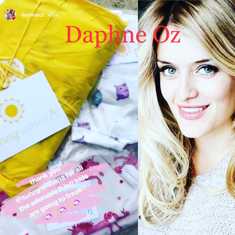 Daphne Oz in Sunny with an A pajamas