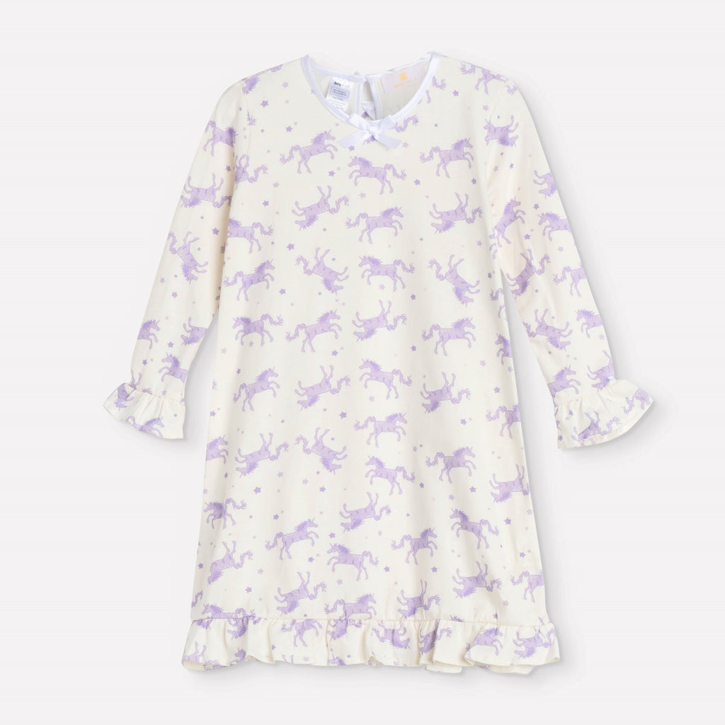 Lavender Unicorn Ruffle Daywear Dress