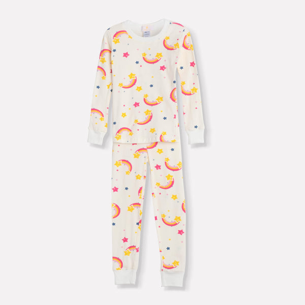Rainbows Long Pajama Set