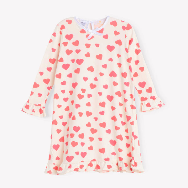 Hearts Ruffle Daywear Dress