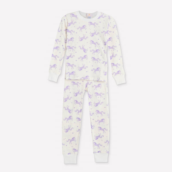 Lavender Unicorns Pajama Set