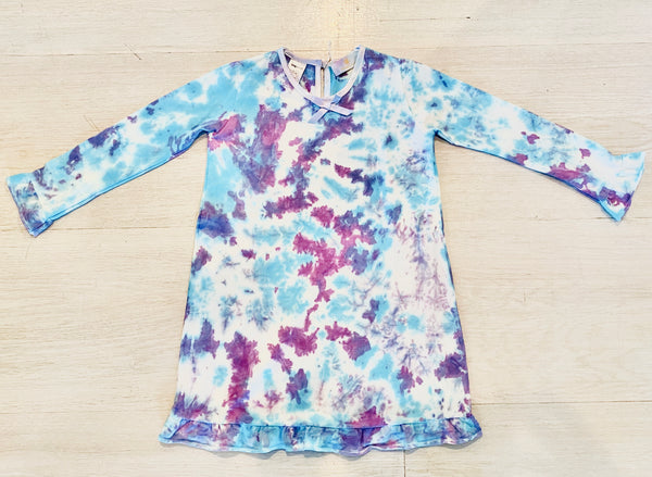 Twilight Tie-Dye Ruffle Daywear Dress - LIMITED EDITION