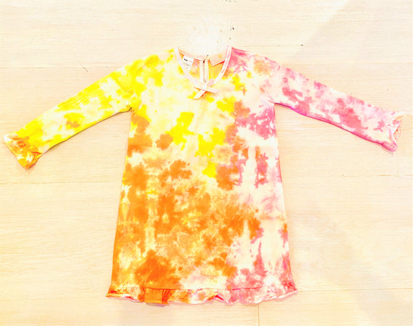 Sunset Tie-Dye Ruffle Daywear Dress - LIMITED EDITION