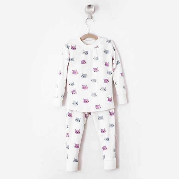 Cats and Clouds Pajama Set