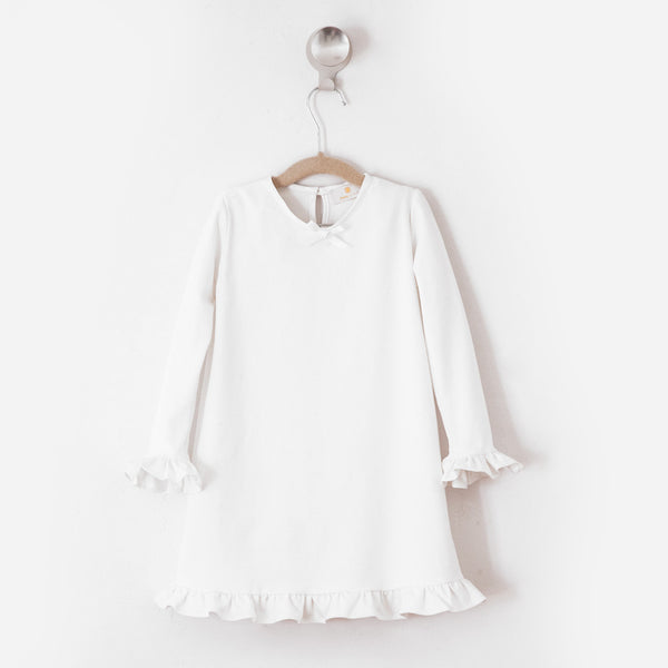 Solid Crème Daywear Dress