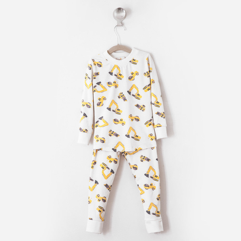 Construction Trucks Pajama Set