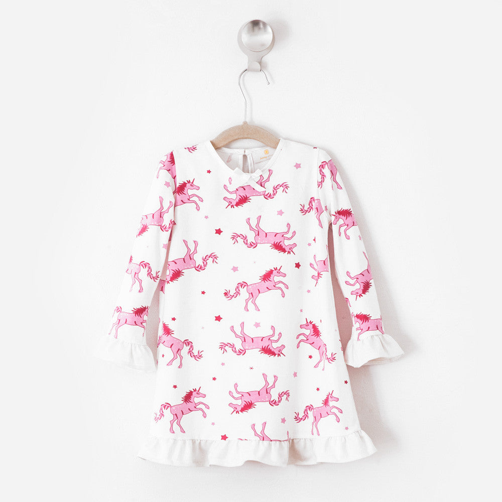 Unicorns Ruffle Daywear Dress