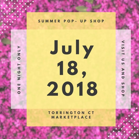 women's boutique pop up shop july 2018, in Connecticut