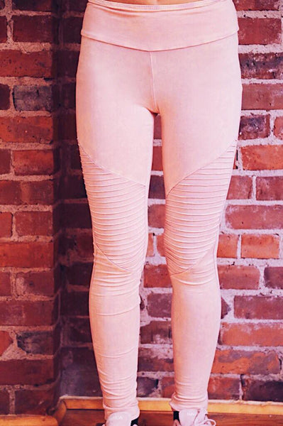 Blush Moto Leggings - Keally Boutique