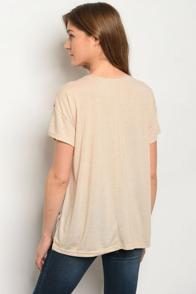 Colorblock Gold Tee - Keally Boutique