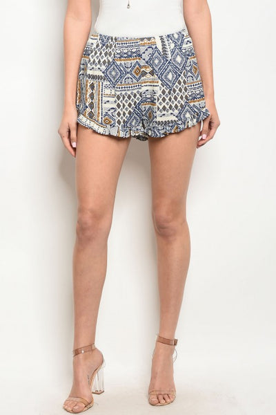 Tribal Printed Shorts - Keally Boutique