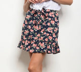 Mini Floral Ruffle Skirt - Keally Boutique